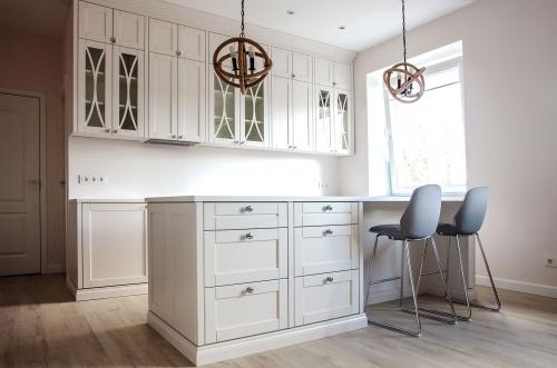 Modernios klasikos virtuvės baldai